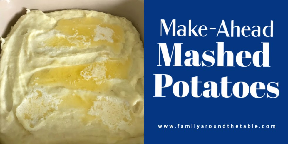 Make ahead mashed pototoes Twitter image.
