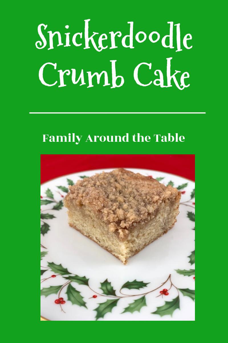 Snickerdoodle Crumb Cake Pinterest Image