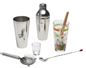 Bartender mixology set.