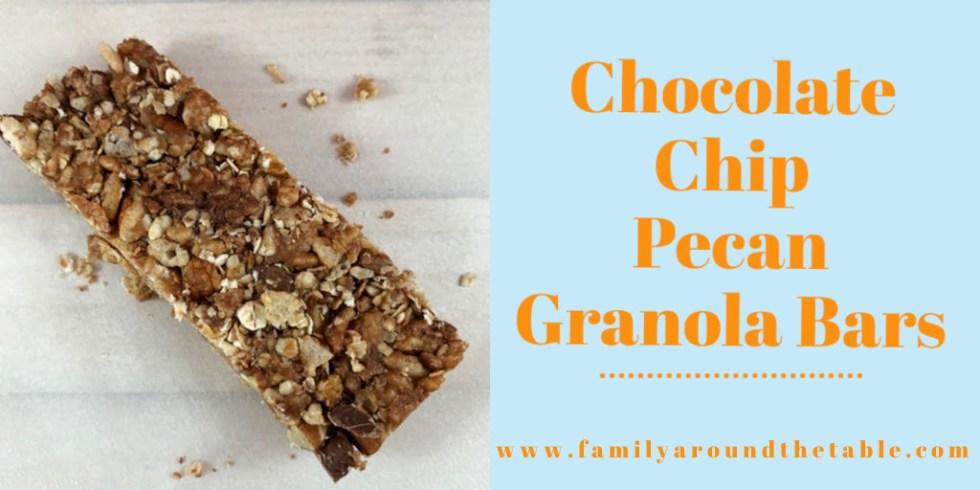 Chocolate Chip Pecan Granola Bars Twitter Image