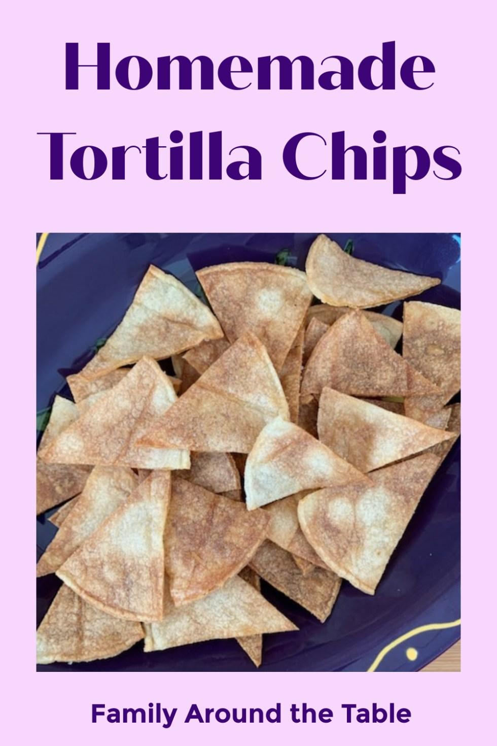 Homemade Tortilla Chips Pinterest Image