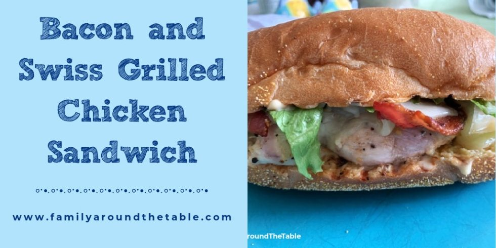 Bacon and Swiss Grilled Chicken Sandwich Twitter image.