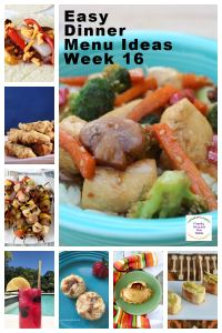 A collage of meals for your weekly menu, week 16.