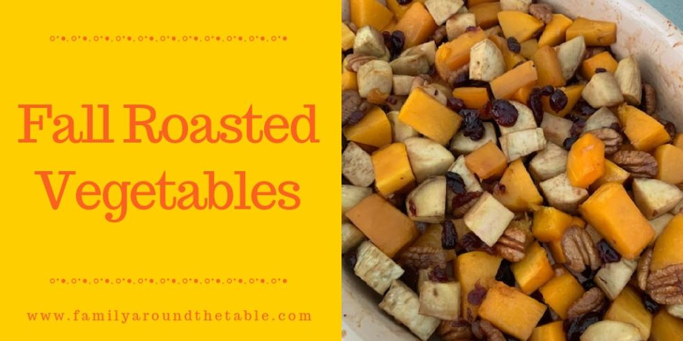 Fall Roasted Vegetables Twitter image