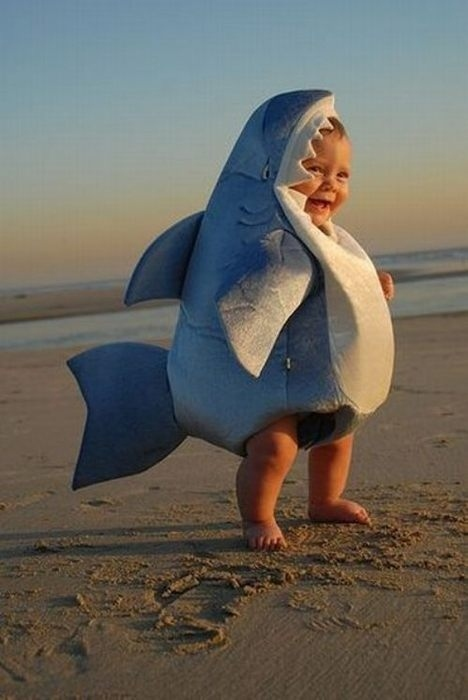 Baby Shark. bay shark halloween costume & 50 Adorable Homemade Halloween Costume Ideas for Kids And Babies ...