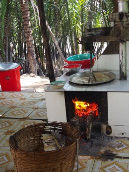 Cooking the coconut candy