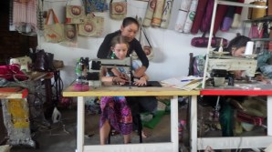 Learning to use a sewing machine