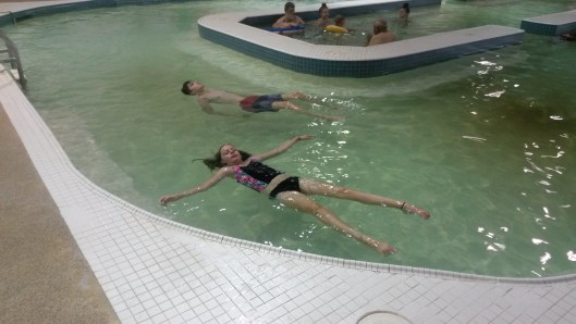 Floating in Mineral Spa