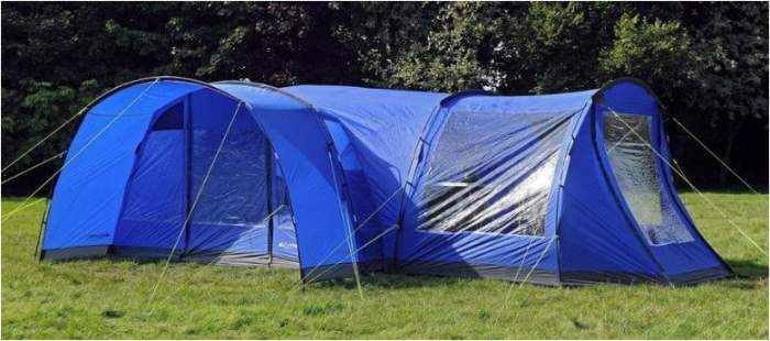 Eurohike Hampton 6 Tent Review Huge 3 Room Dark Rest