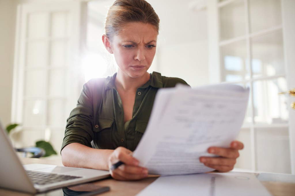 women with paperwork