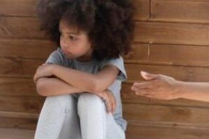 child showing trauma