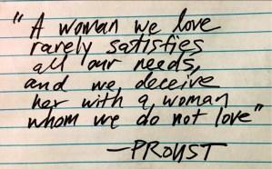 aphorism by Proust illustrates emotional motivation
