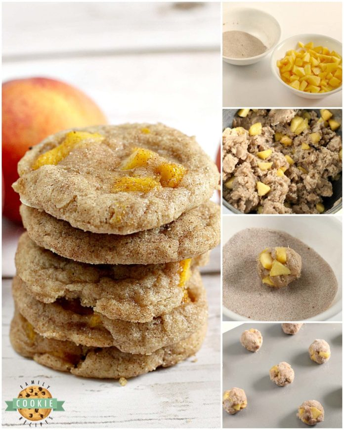 Step-by-step instructions on how to make Peach Snickerdoodles.