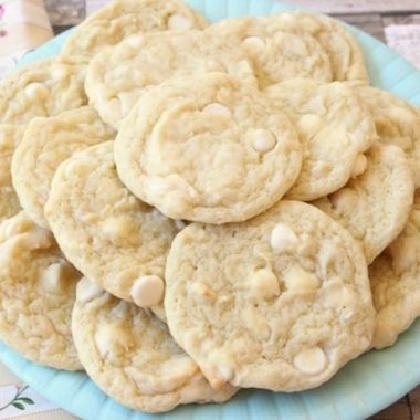 Banana Pudding Cookies 1/2 cup butter, softened 1 cup granulated sugar 1 banana, smashed 3.4 oz package banana cream instant pudding mix 2 large eggs 2 1/2 cups flour 1/2 teaspoon baking soda 1/2 teaspoon salt 2 cups white chocolate chips How to make Banana Cookies: Preheat your oven to 350 degree F and prepare baking sheets by lining with parchment paper. Combine flour, baking soda and salt, then set aside. Combine butter and sugar and mix with an electric mixer. Add banana, dry pudding mix and the eggs, then mix together until smooth. Pour dry ingredients into the mixing bowl with banana mixture and mix slowly until incorporated. Add the white chocolate chips and mix to combine. Scoop rounded tablespoonfuls of cookie dough onto parchment lined baking pan.Bake at 350 degrees F for 10 minutes or until slightly golden. Let Banana Cookies cool for several minutes on the cookie sheet before transferring to a cooling rack. Banana Pudding Cookies are a classic banana cookie recipe with a twist! They have a great soft, chewy texture that comes from banana pudding mix as well as an entire banana in the dough. Banana cream pie lovers- you've got to try these banana cookies!