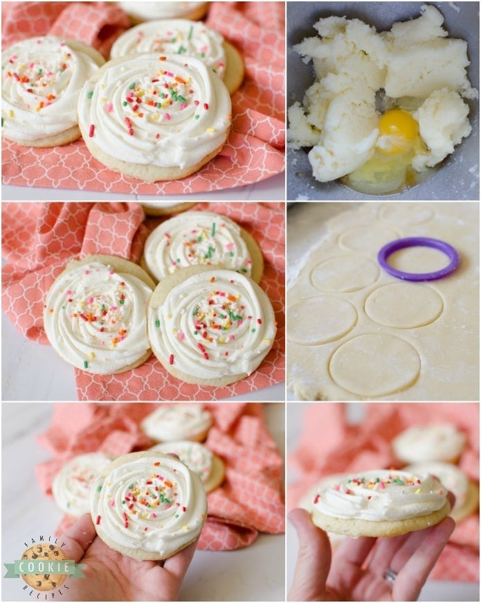 Super Soft Sugar Cookies are the best sugar cookies ever! Make with classic ingredients, this sugar cookie recipe has great texture and flavor. This is the last sugar cookie recipe you'll ever need! Amazing recipe for sugar cookie frosting included.