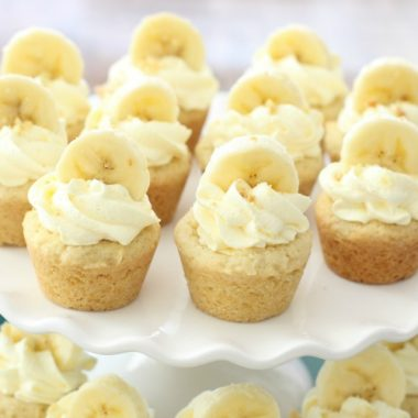 Banana Cream Pie Cookies are everything you love about Banana Cream Pie, in bite-sized cookie form!Easy family favorite banana cookie recipe!