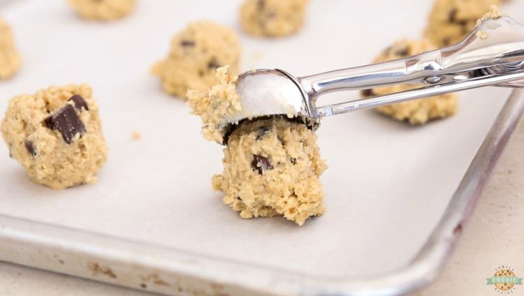 oatmeal cookie scoop