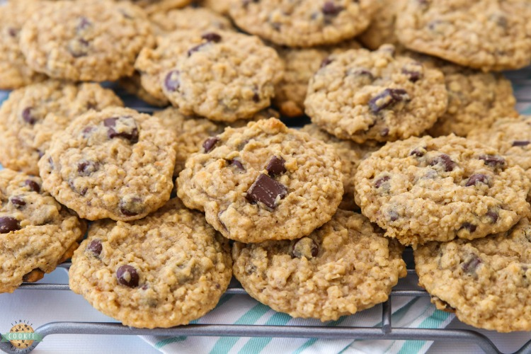 Chocolate Chip Oatmeal Cookies made with classic ingredients for the perfect soft & chewy oatmeal cookie! Amazing homemade cookie recipe you have to try!