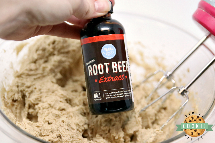 Root beer extract in cookies