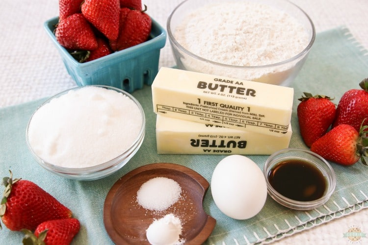 strawberry cookie cups ingredients