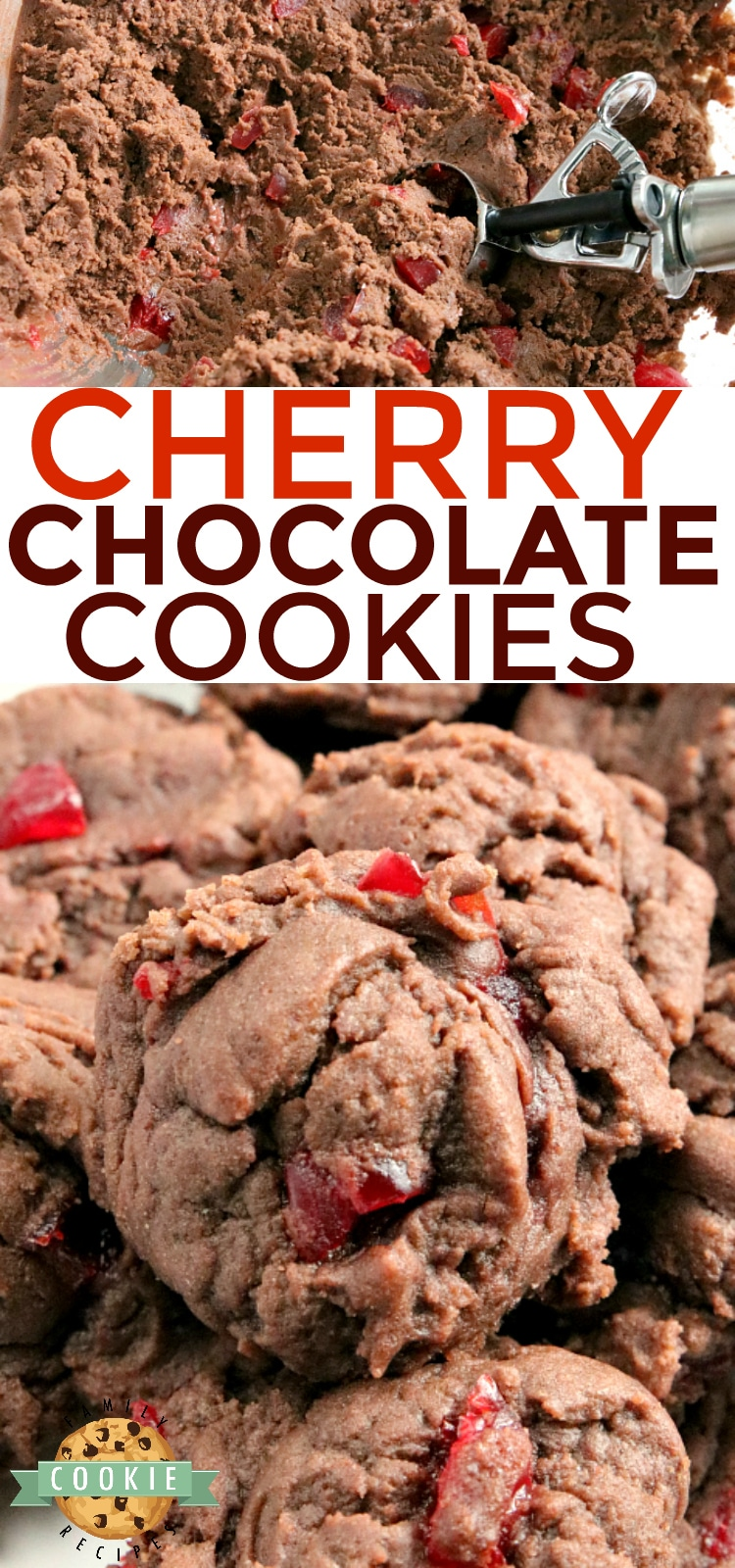 Cherry Chocolate Cookies are soft, chewy and full of cherries! There is chocolate pudding mix in these cookies which gives them the perfect flavor and consistency every time. via @buttergirls