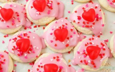 Valentines Cake Mix Cookies
