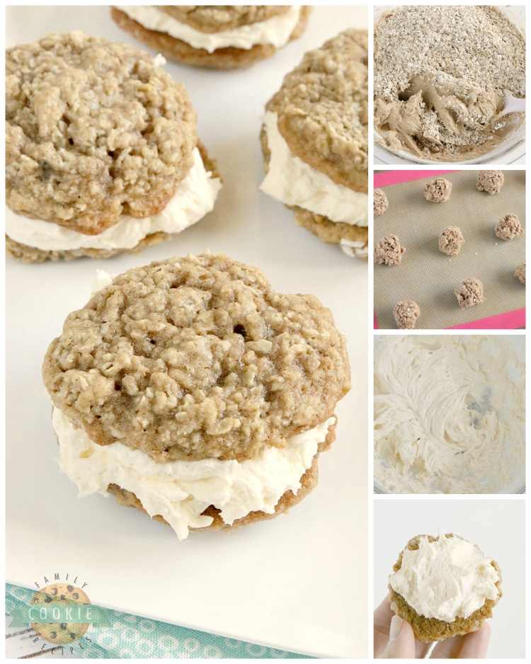 Step by step instructions on how to make homemade oatmeal cream pies