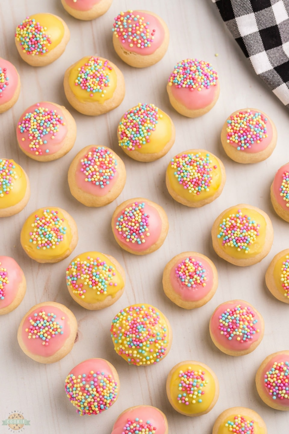Homemade Frosted Italian Cookies recipe