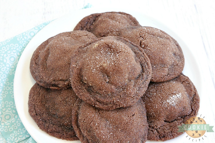 Chocolate Cookies with a peanut butter filling