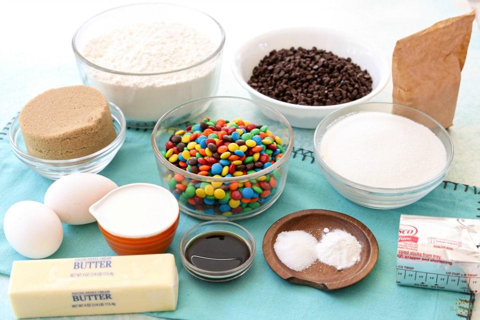 Best M&M Cookies ingredients