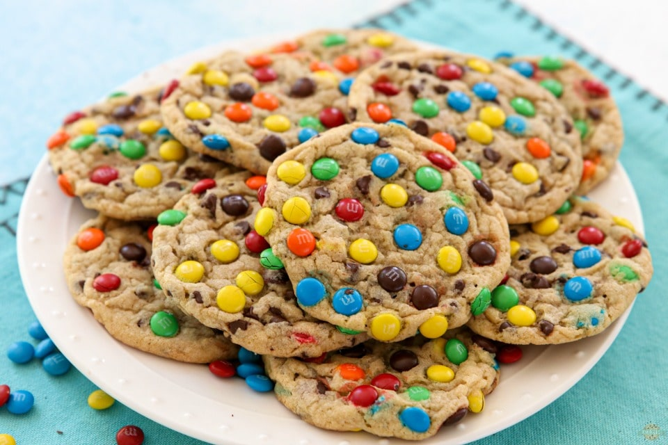 Soft and Chewy M&M Cookie recipe