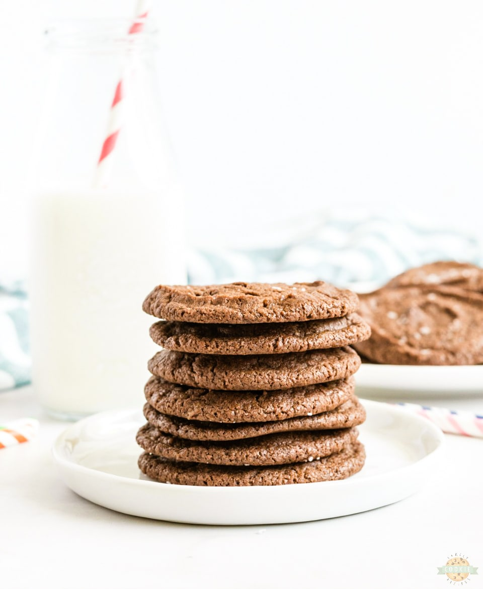 Salted Chocolate Shortbread Cookies recipe