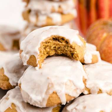 pillowy soft iced pumpkin cookies