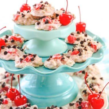 Cherry Chocolate Chip No-Bake Cookies recipe