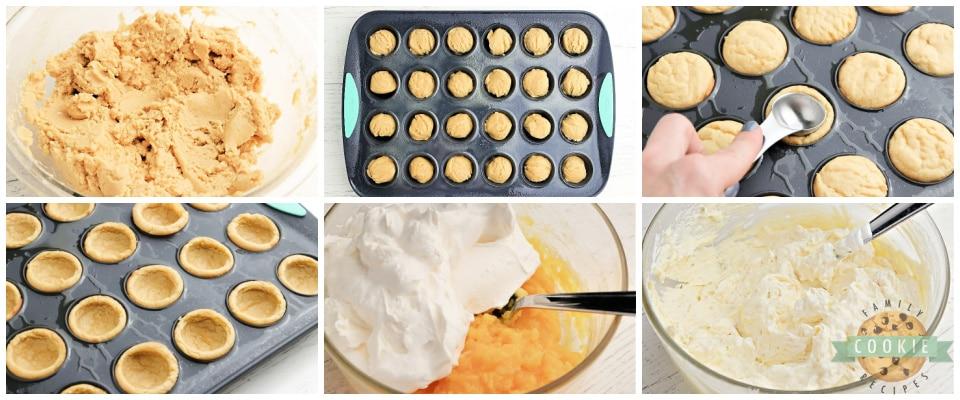 How to make banana split cookie cups