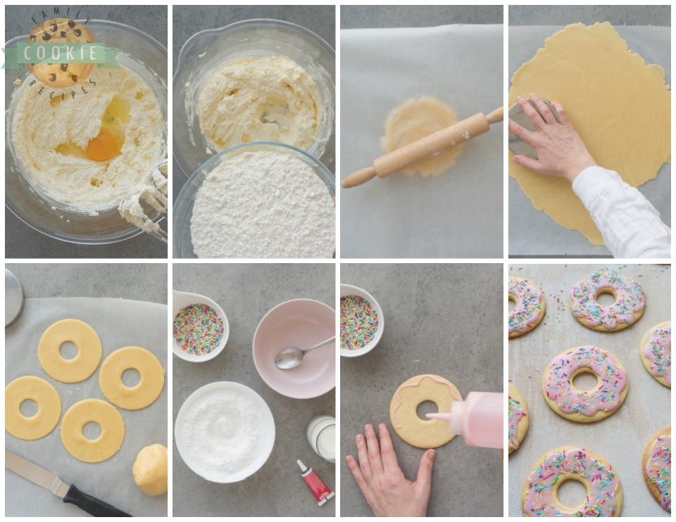 How to Make Pink Donut Cookies