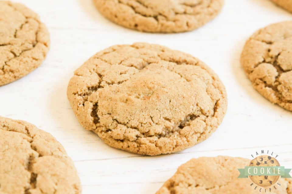 Cookies made with ground oats and lots of cinnamon