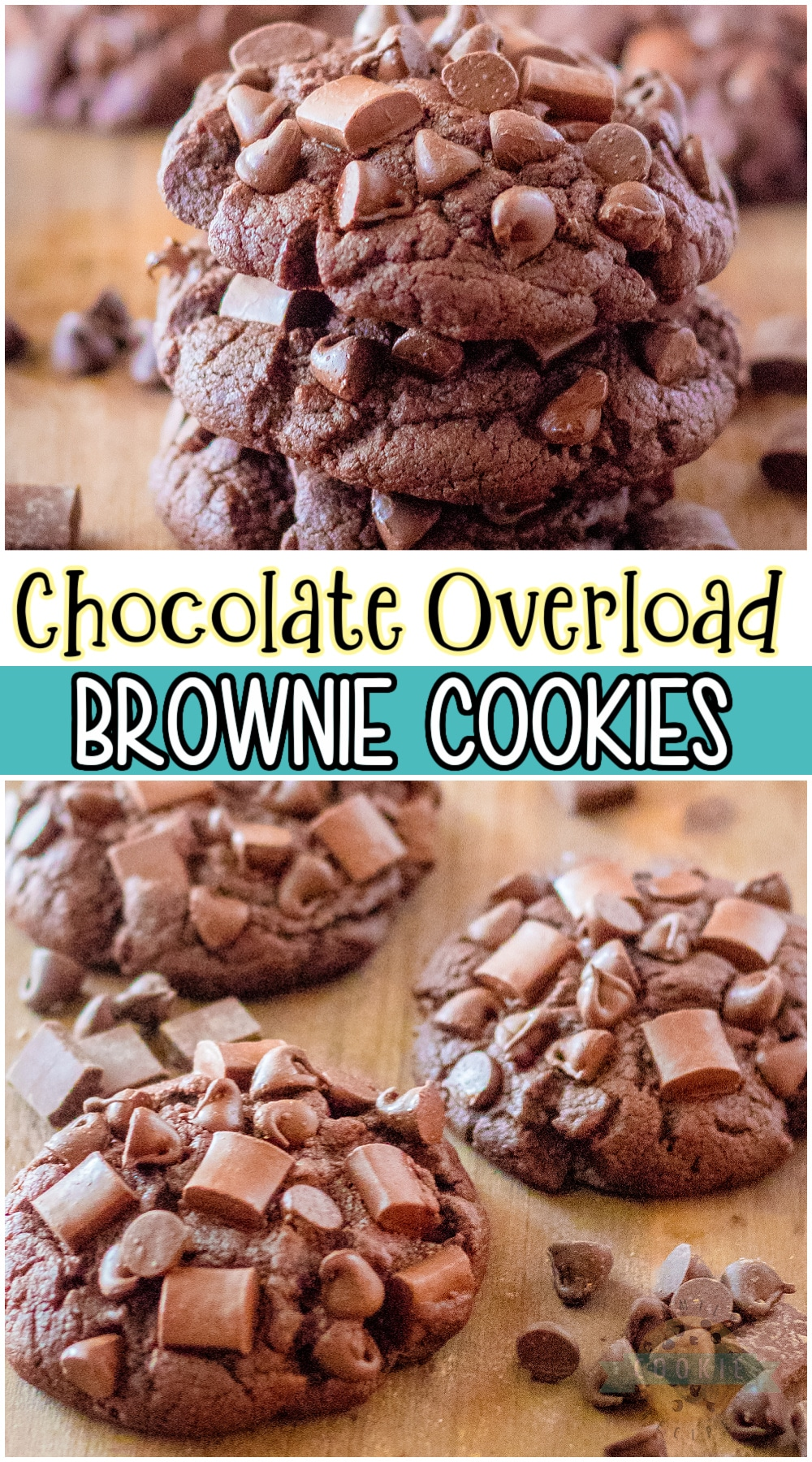 Chocolate Brownie Cookies are soft & fudgy brownies in cookie form! Recipe is loaded with chocolate and made into over-the-top GIANT cookies that everyone goes crazy for! #brownies #cookies #chocolate #baking #easyrecipe from FAMILY COOKIE RECIPES via @buttergirls