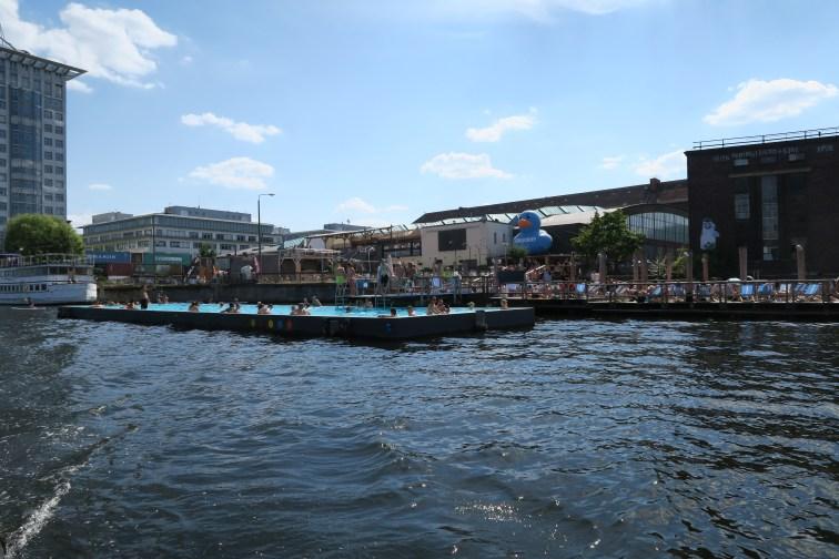 "Swimmingpool ""Badeschiff"" in Spree river"