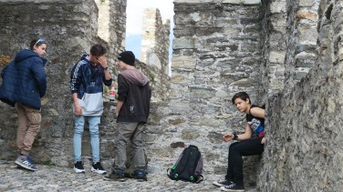 Teens hanging around