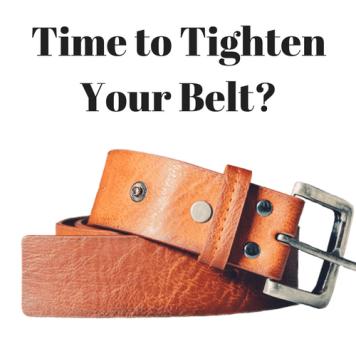 tighten belt