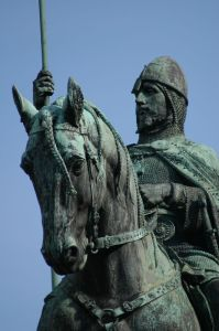 Equestrian statue of St. Wenceslas - detail