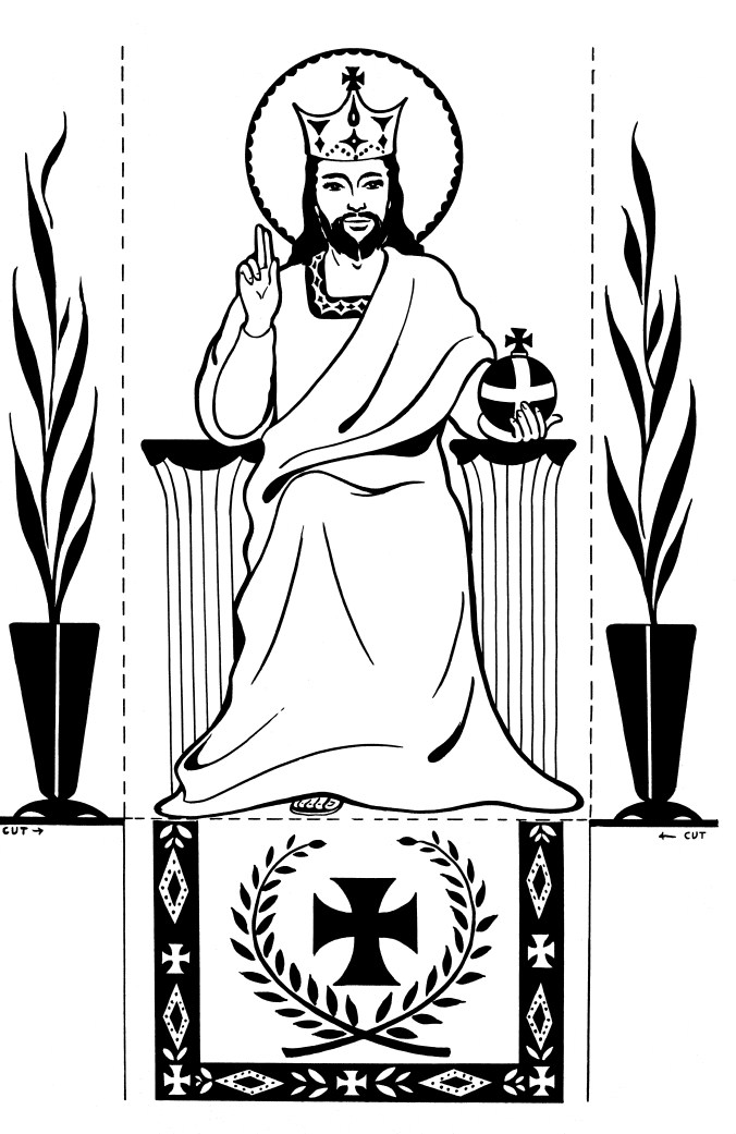 Coloring Pages Archives Family In Feast And Feria - Christ-the-king-coloring-page