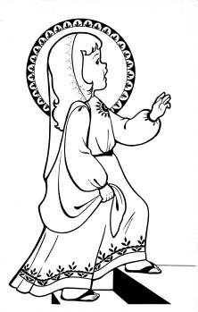Presentation of the blessed virgin mary surprise family for Blessed mother coloring page