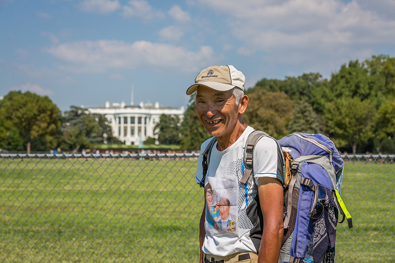 Mr. Machida Peace Walk DC, White house Holy Ground