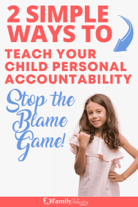 Are your kids constantly playing the blame game instead of taking responsibility for their own actions? Try this to easily teach them personal accountability! #parenting #kidsandparenting #momlife #mom #kids