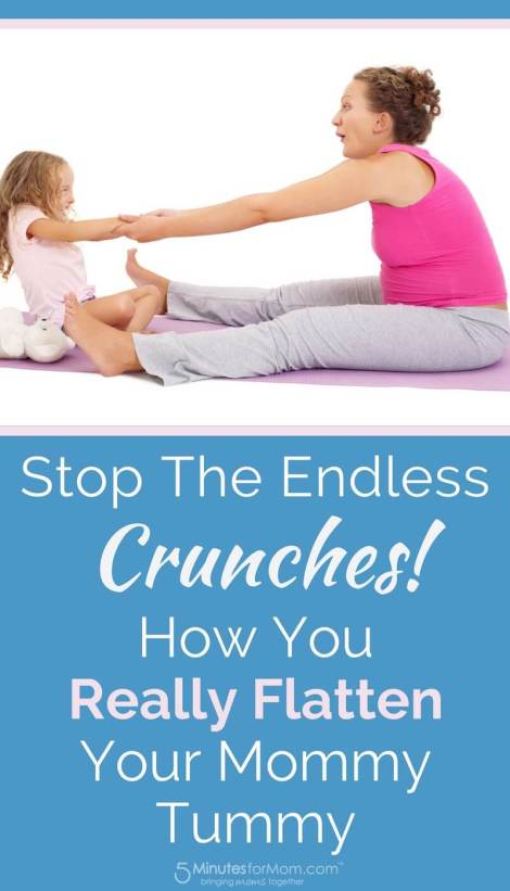 how to flatten your mommy tummy