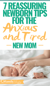 Bring home a new baby brings with it tons of anxiety and exhaustion. These are the absolute best newborn tips for new moms. These newborn tips for anxious new moms will reassure you that you're doing just fine! #babies #newborn #pregnancy #momlife