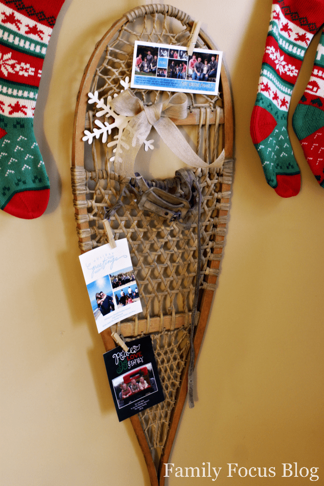 Snowshoe Christmas Card Holder Craft Tutorial Family
