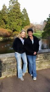 Lindsay and her stepmom.
